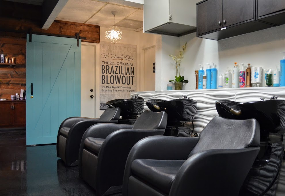 Picture of washing station where Keratin treatments and Brazilian Blowouts are performed in San Diego.